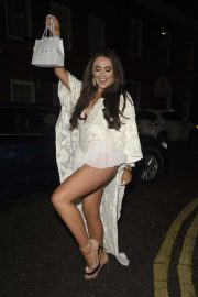 Charlotte Dawson was pictured at The Rose and Caramel White Party at History in Manchester