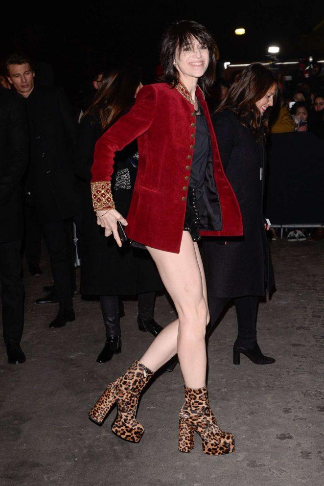 Charlotte Gainsbourg – Arrives at Yves Saint Laurent Fashion Show in Paris