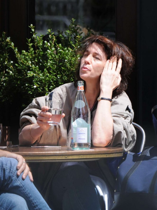 Charlotte Gainsbourg out for lunch in NYC