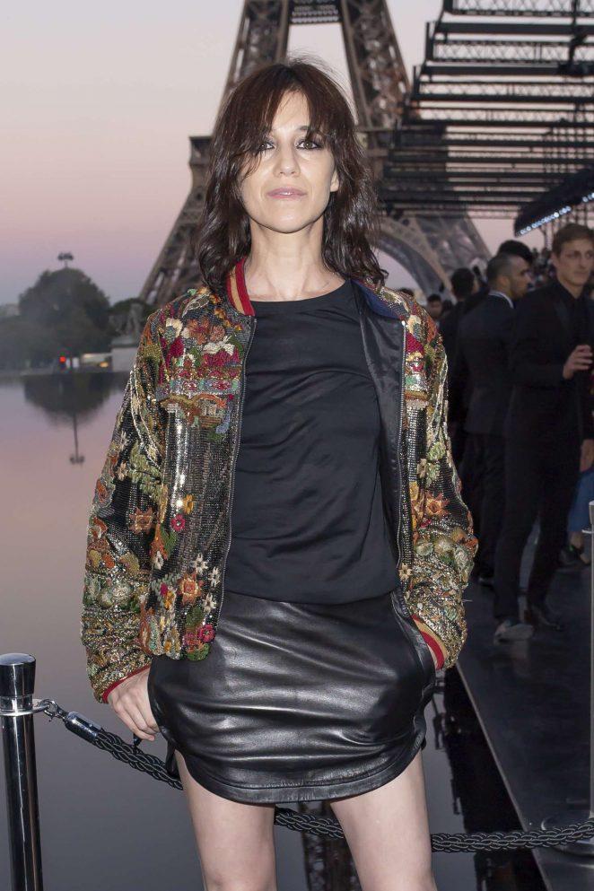Charlotte Gainsbourg – Saint Laurent Fashion Show in Paris