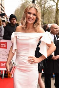 Charlotte Hawkins - All smiles at TRIC Awards 2020 at Grosvenor House Hotel in London