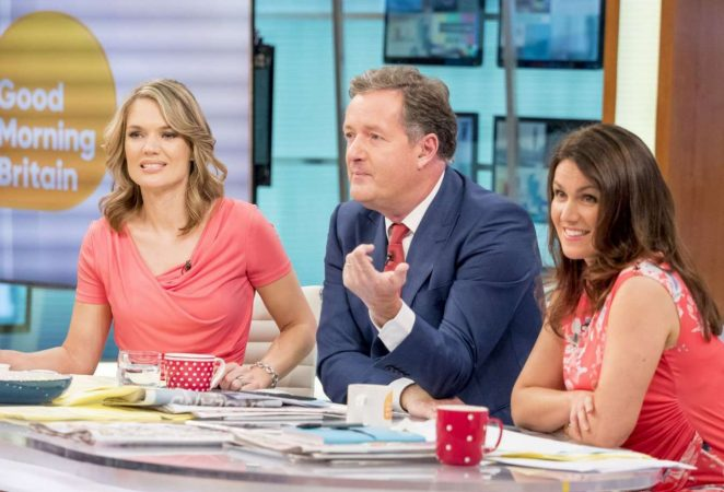 Charlotte Hawkins and Susanna Reid - Good Morning Britain TV Show in London