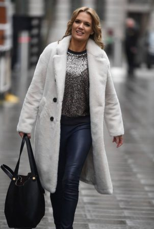Charlotte Hawkins - Arriving at Global Studios Classical FM in London