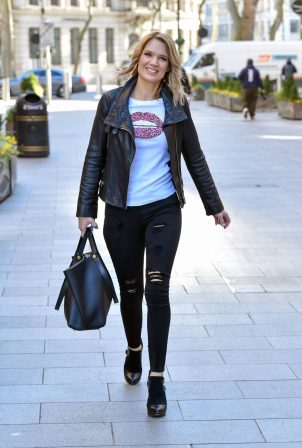 Charlotte Hawkins - Arriving at the Global Studios in London