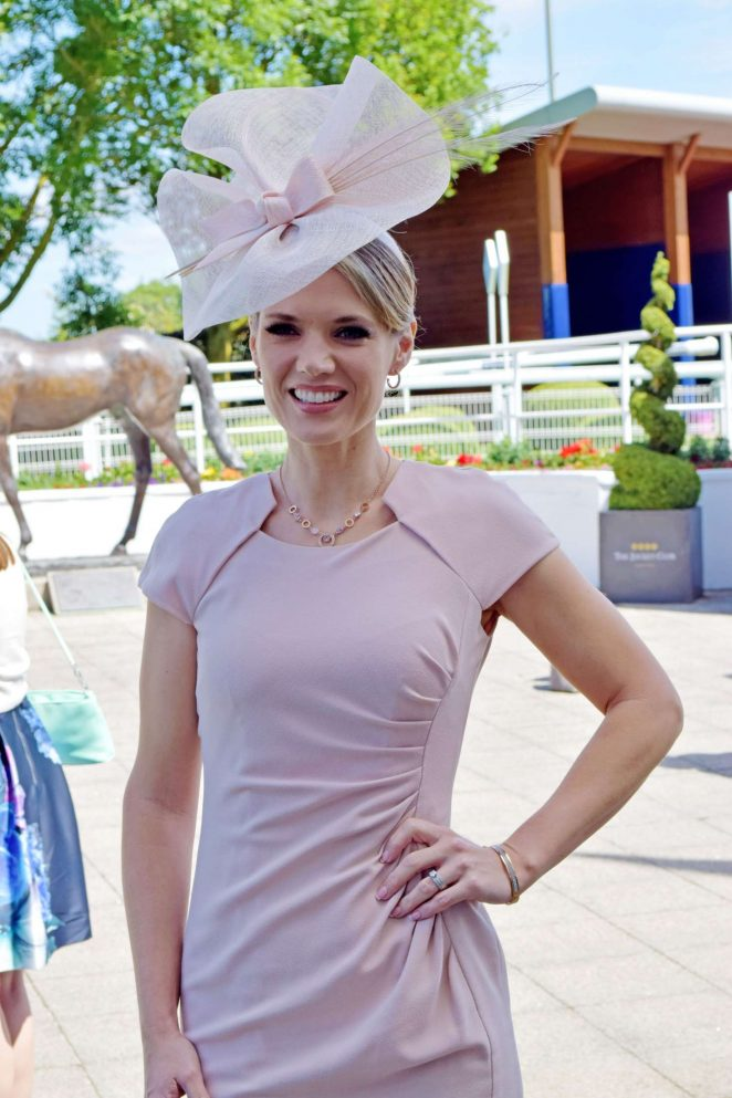 Charlotte Hawkins - Derby Day Investec Derby horse racing in Surrey