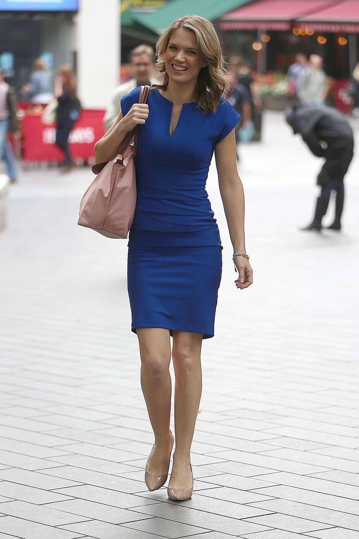 Charlotte Hawkins In Blue Dress 01 Gotceleb