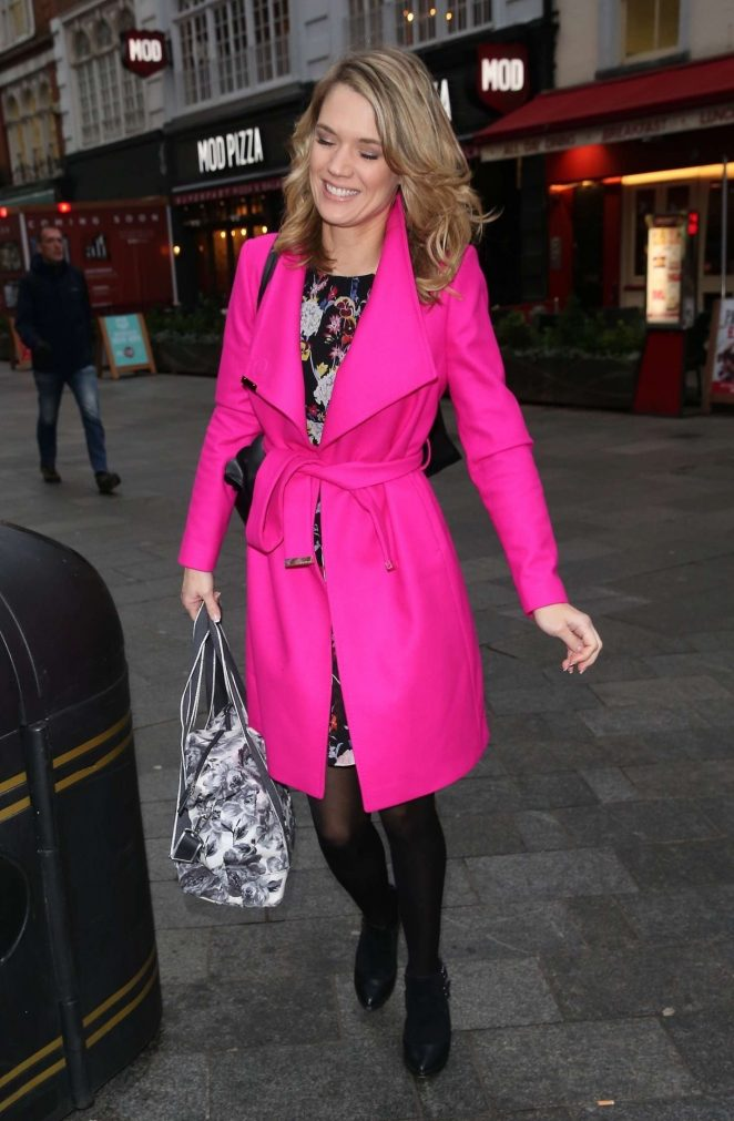 Charlotte Hawkins in Pink - Radio Appearance Global Radio in London