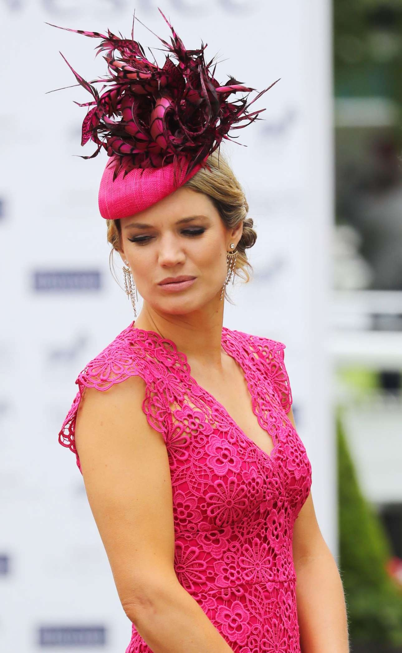 Charlotte Hawkins - Investec Derby Festival Ladies Day At Epsom Racecourse