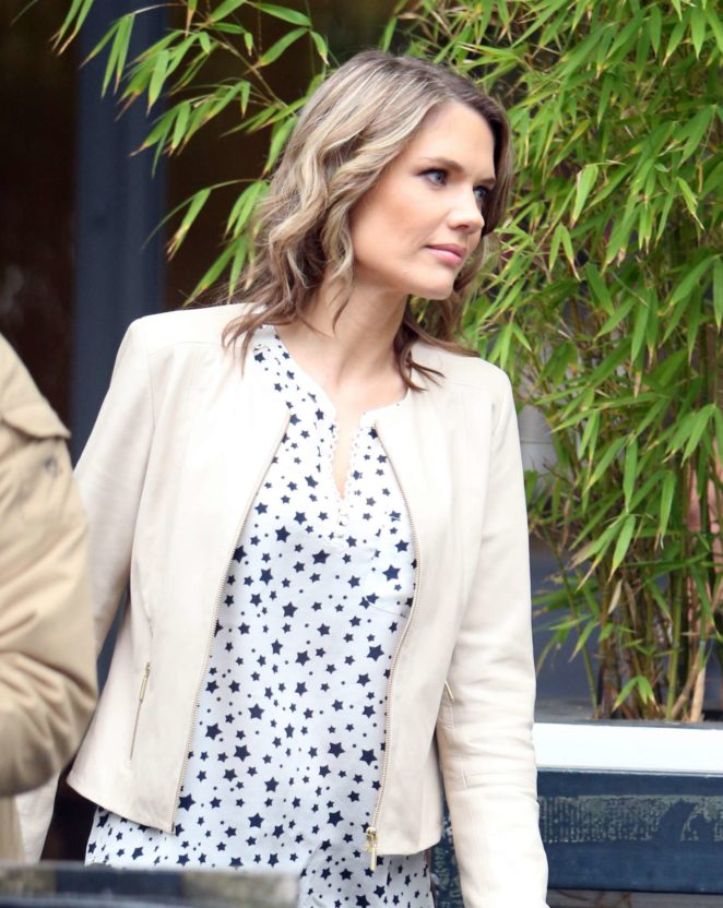 Charlotte Hawkins - Leaving the ITV studio in London