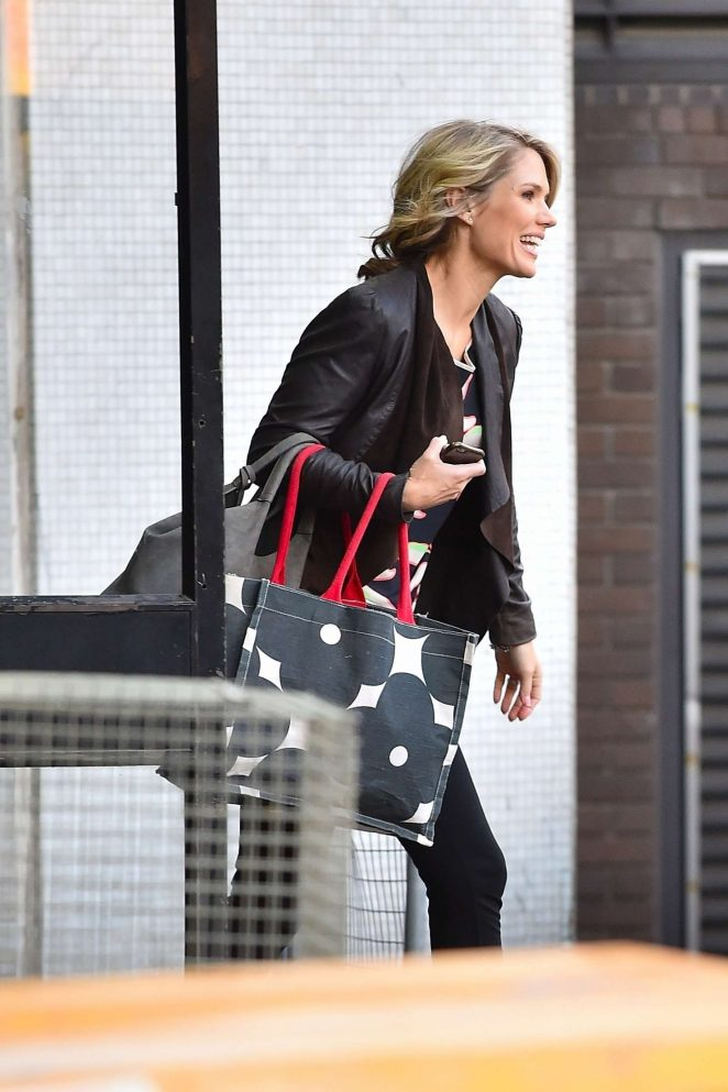 Charlotte Hawkins - Leaving the ITV Studios in London
