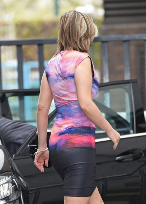 Charlotte Hawkins in Tight Dress Leaving The London Studios