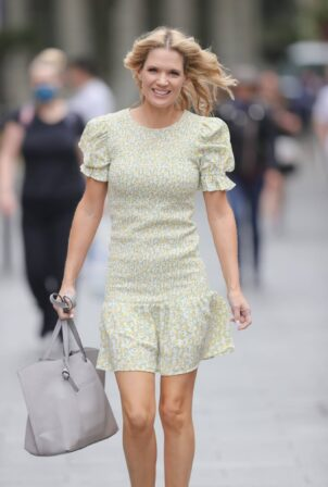 Charlotte Hawkins - Out in a mini dress at Classic FM radio in London