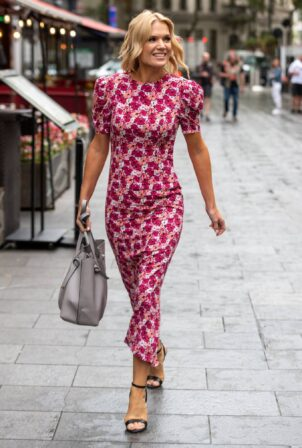 Charlotte Hawkins - Seen arriving at Global Studios in London
