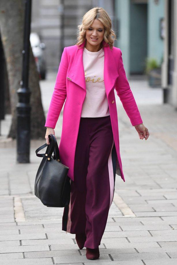 Charlotte Hawkins - Spotted arriving at Global Studios in London