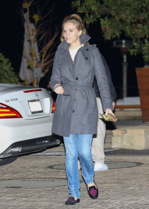 Charlotte Kirk - Leaves Nobu restaurant in Malibu