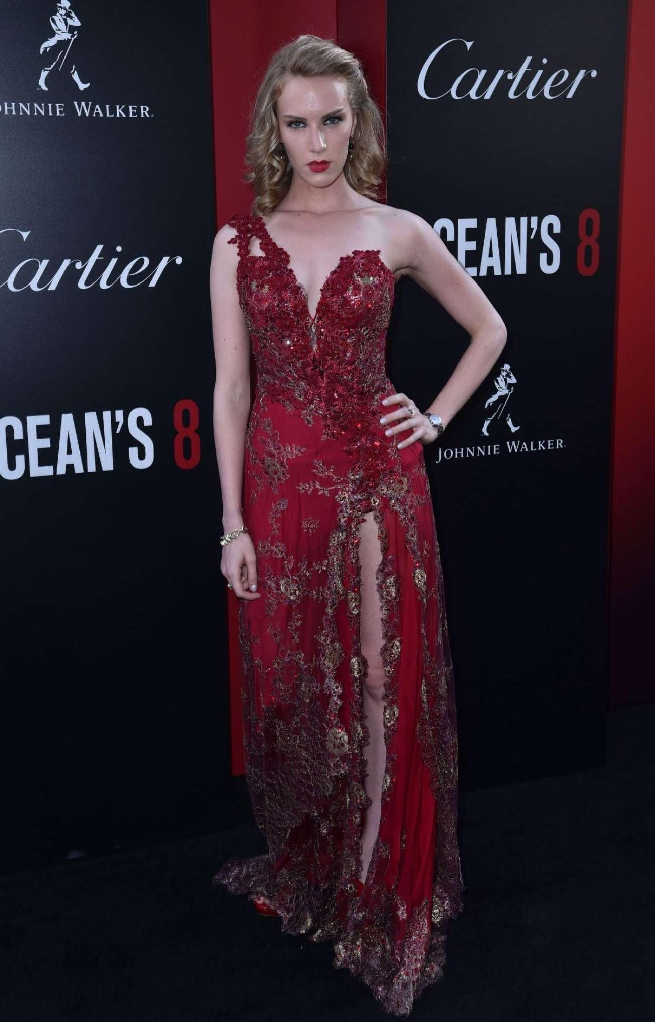 Charlotte Kirk 2018 : Charlotte Kirk: Ocean's 8 Premiere photocall In New York-04