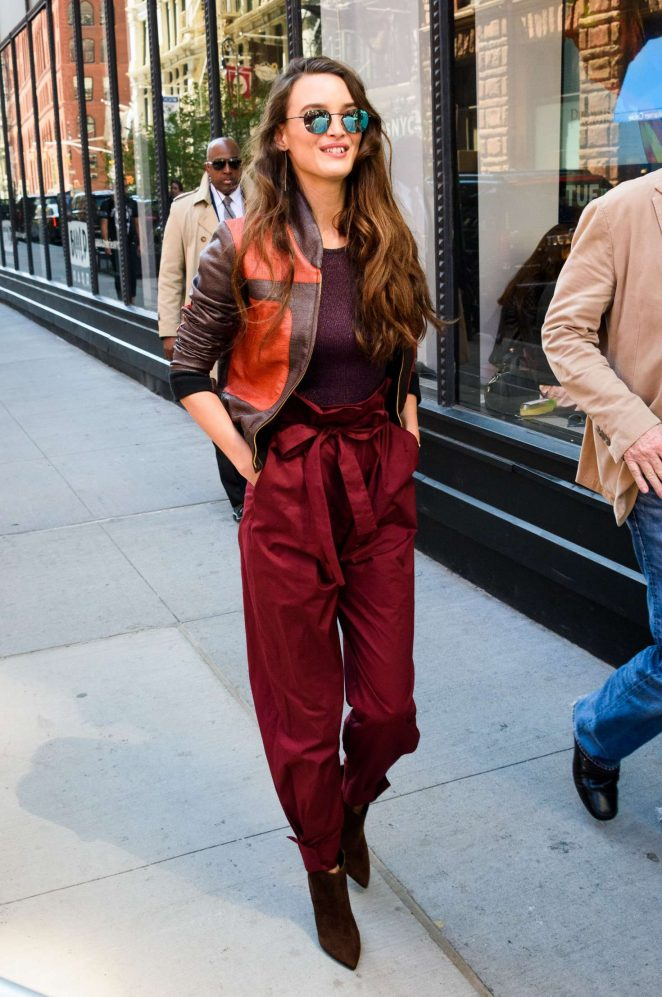 Charlotte Le Bon out in New York