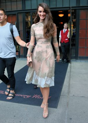 Charlotte Lebon - Leaves the Bowery Hotel in New York City