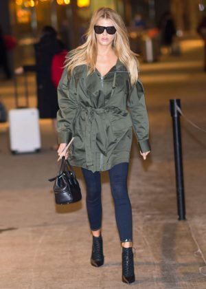 Charlotte McKinney at JFK Airport in New York