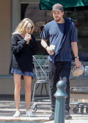 Charlotte Mckinney at Starbucks in Malibu