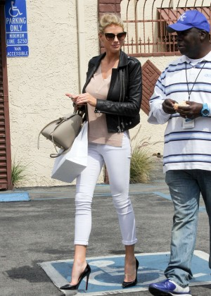 Charlotte McKinney in Tight Pants at DWTS in Hollywood