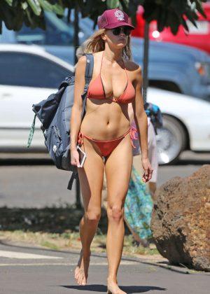 Charlotte Mckinney - Bikini Candids in Hawaii
