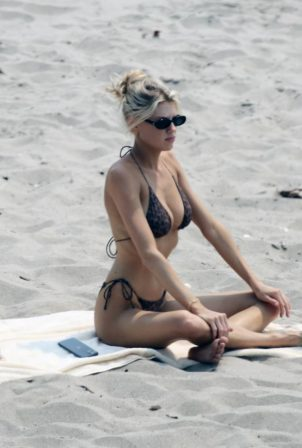 Charlotte McKinney - In a bikini at the Beach in Malibu