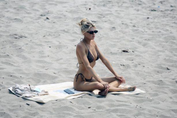 Charlotte McKinney - In a bikini at the Beach in Malibu