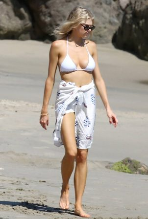 Charlotte Mckinney - In a bikini on the beach in Los Angeles