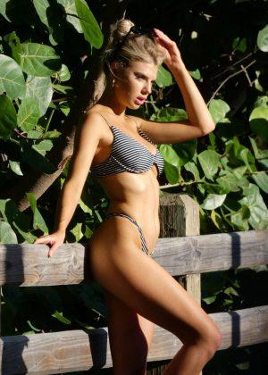 Charlotte McKinney in Bikini - Photoshoot on Miami Beach