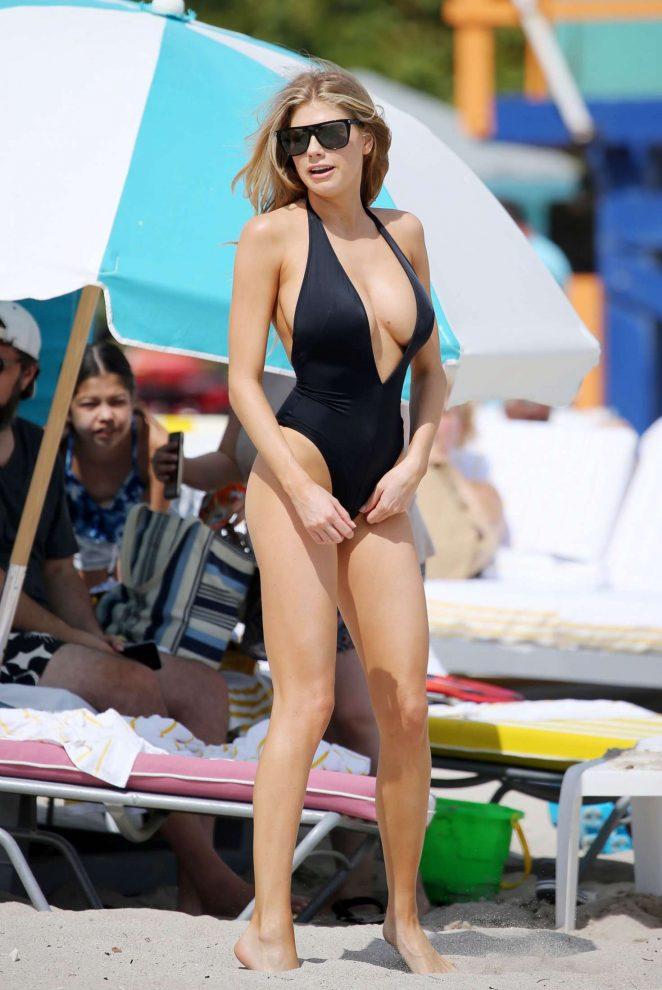 0e0450c681 Charlotte McKinney in Black Swimsuit -12 – GotCeleb