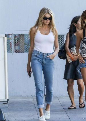 Charlotte Mckinney in Jeans Out Shopping in Beverly Hills