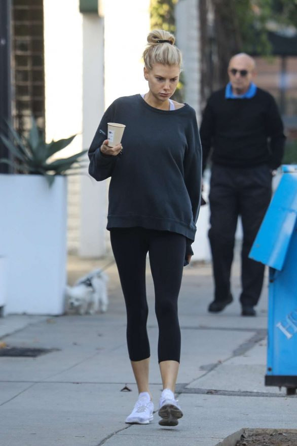 Charlotte McKinney in Leggings - Out in Beverly Hills