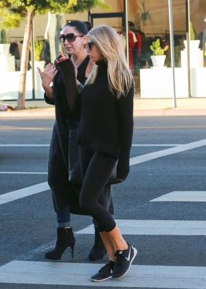 Charlotte McKinney in Leggings out in LA