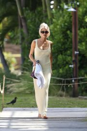 Charlotte McKinney in Long Dress - Out in Miami