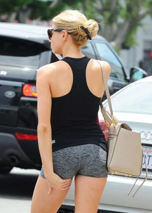 Charlotte McKinney in Shorts Out in LA