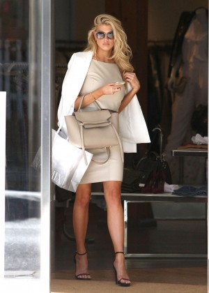 Charlotte McKinney at Intermix Clothing Store -07