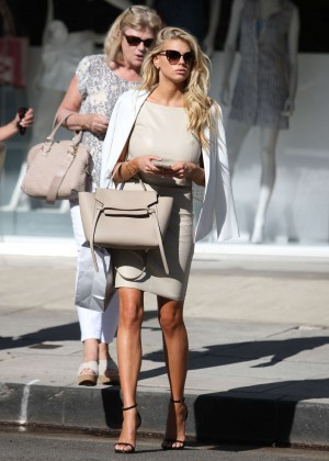 Charlotte McKinney at Intermix Clothing Store -10