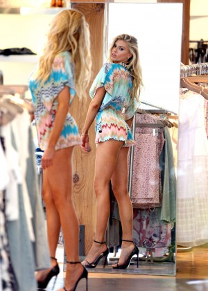 Charlotte McKinney at Intermix Clothing Store -20