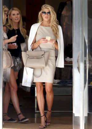 Charlotte McKinney at Intermix Clothing Store -32