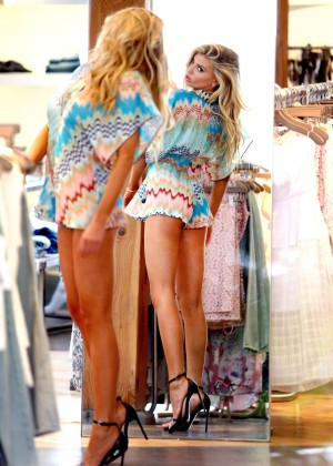 Charlotte McKinney at Intermix Clothing Store -37