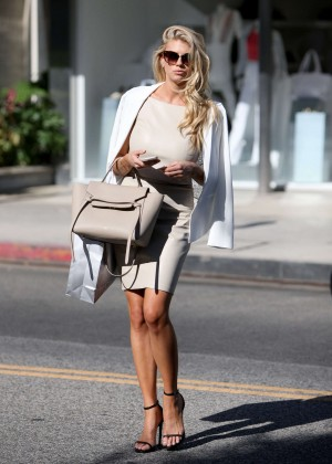 Charlotte McKinney at Intermix Clothing Store -39