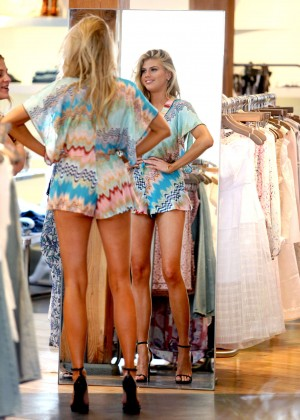 Charlotte McKinney at Intermix Clothing Store -40