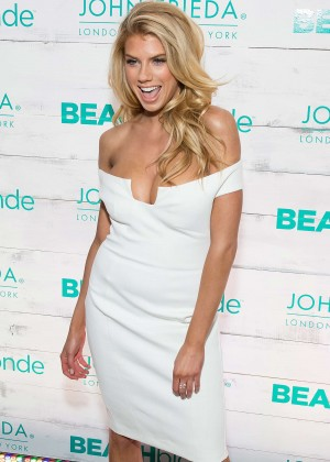 Charlotte McKinney - John Frieda Hair Care Beach Blonde Collection Party in NYC