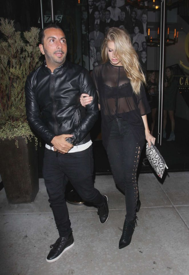 Charlotte McKinney - Leaves Catch restaurant in Los Angeles