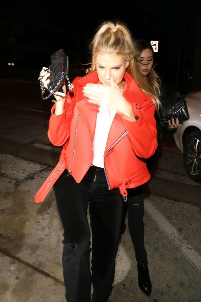 Charlotte McKinney - Leaves Craig's Restaurant in LA