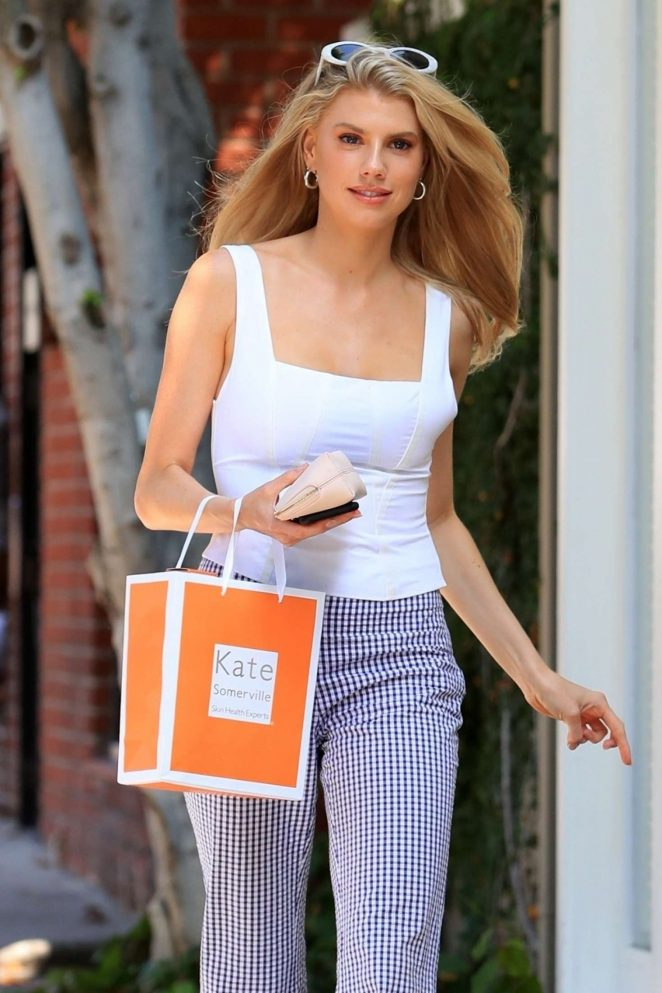 Charlotte McKinney - Leaves Kate Somerville spa in West Hollywood