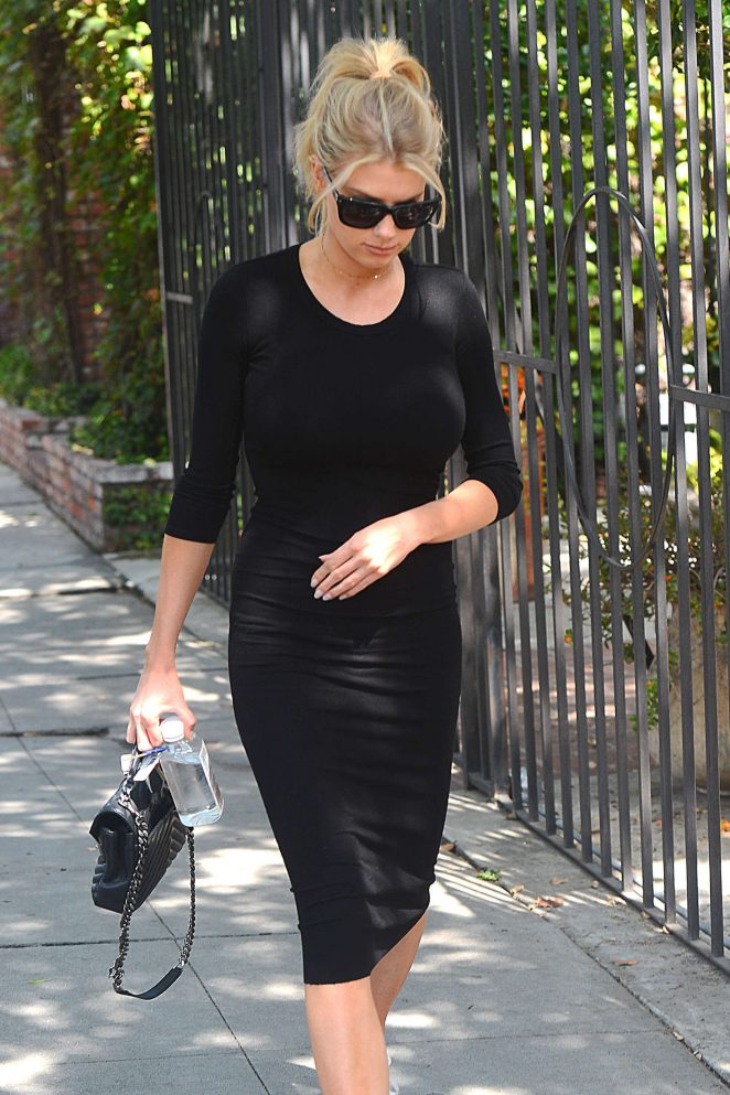 Charlotte McKinney - Leaving a Spa in Melrose Place