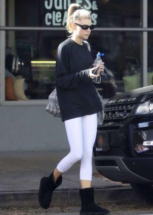 Charlotte McKinney - Leaving a yoga class in Santa Monica