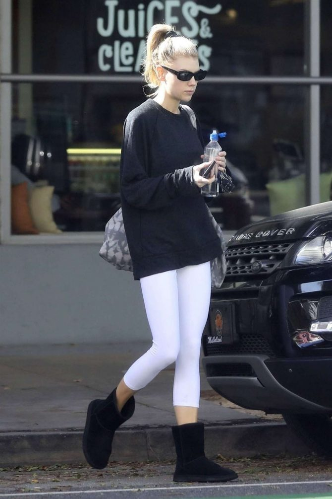 Charlotte McKinney – Leaving a yoga class in Santa Monica